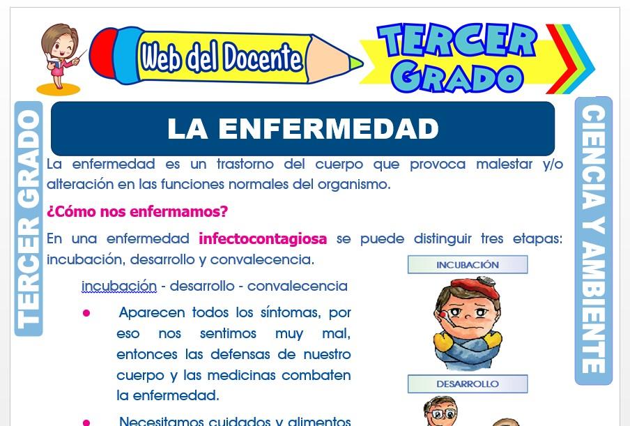 Ficha de La Enfermedad para Tercer Grado de Primaria