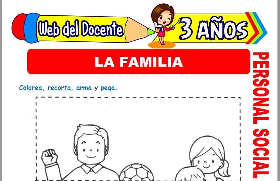 Muestra de la Ficha de La Familia para Niños de 3 Años