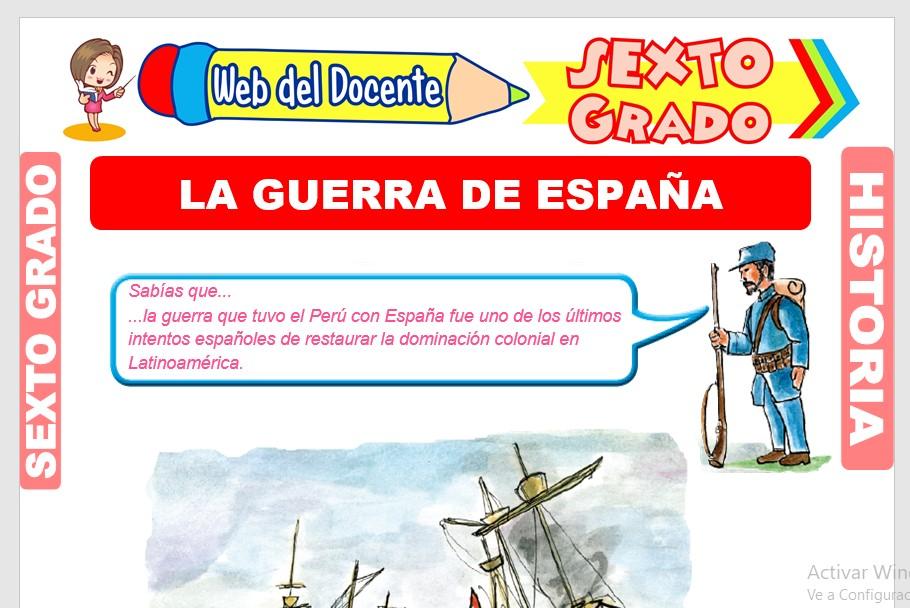 Ficha de La Guerra de España para Sexto Grado de Primaria