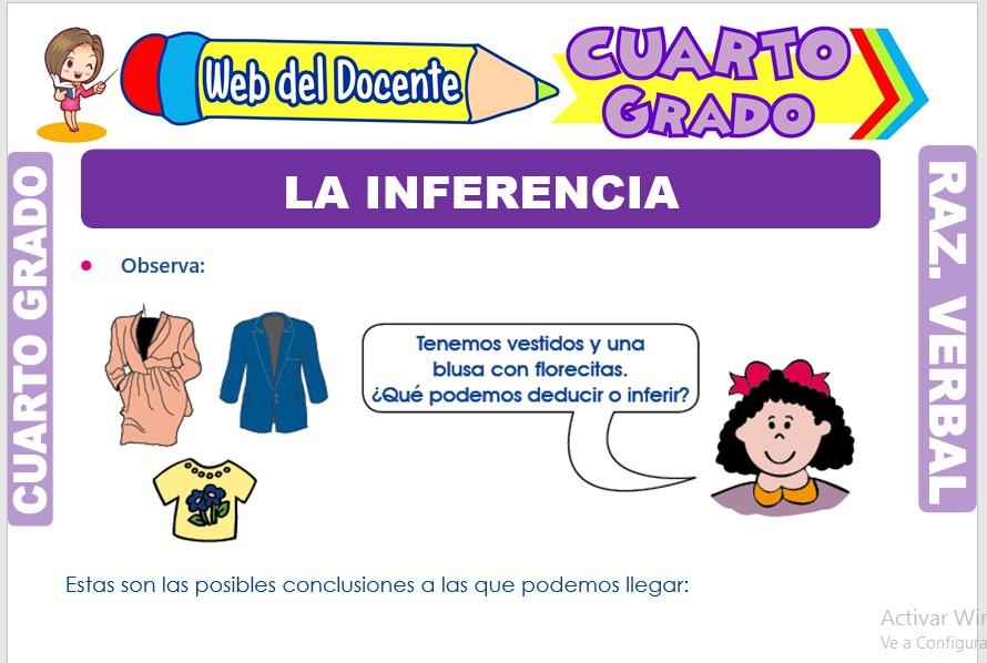 Ficha de La Inferencia para Cuarto Grado de Primaria
