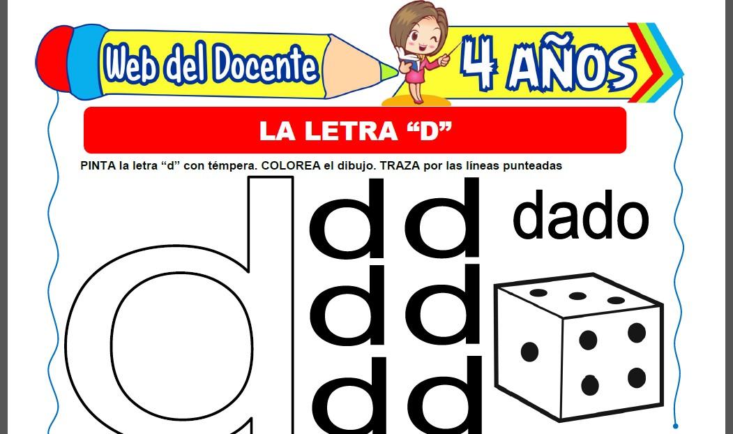 La Letra D ara Niños de 4 Años