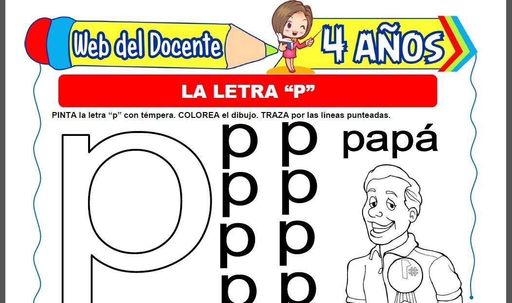 La Letra P para Niños de 4 Años