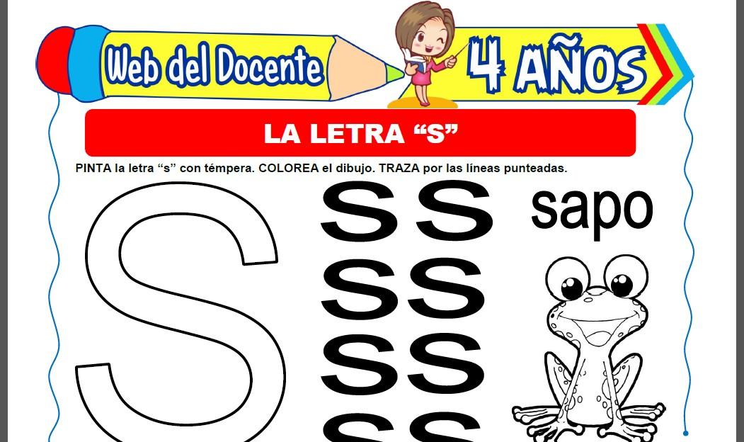 La Letra S para Niños de 4 Años