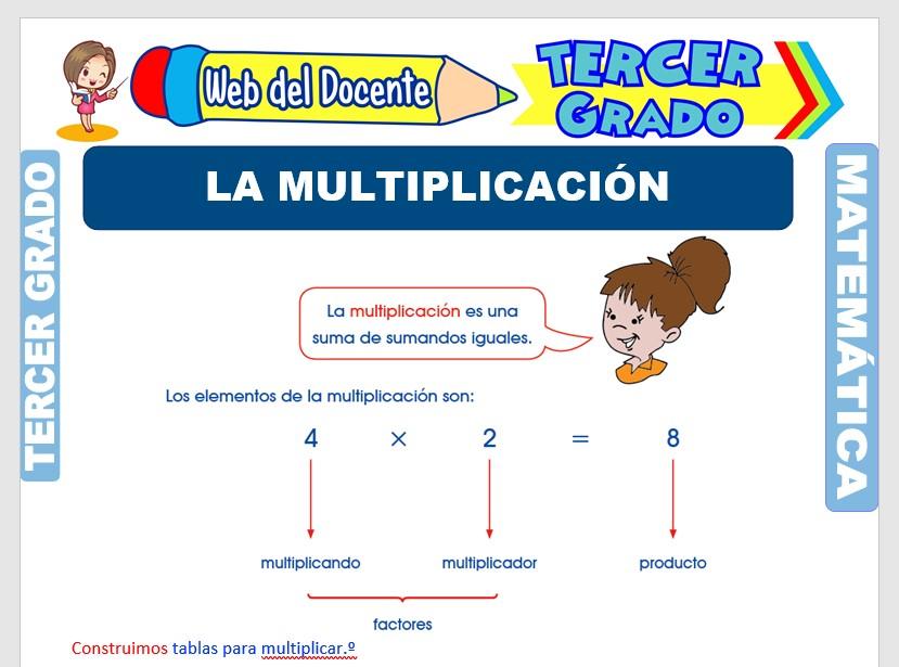 Ficha de La Multiplicación para Tercer Grado de Primaria