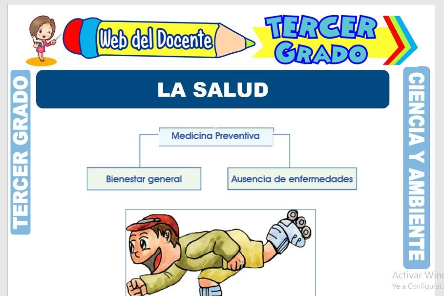 Ficha de La Salud para Tercer Grado de Primaria