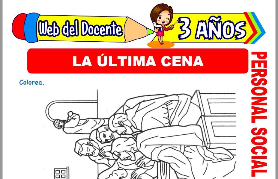 Muestra de la Ficha de La Ultima Cena para Niños de 3 Años