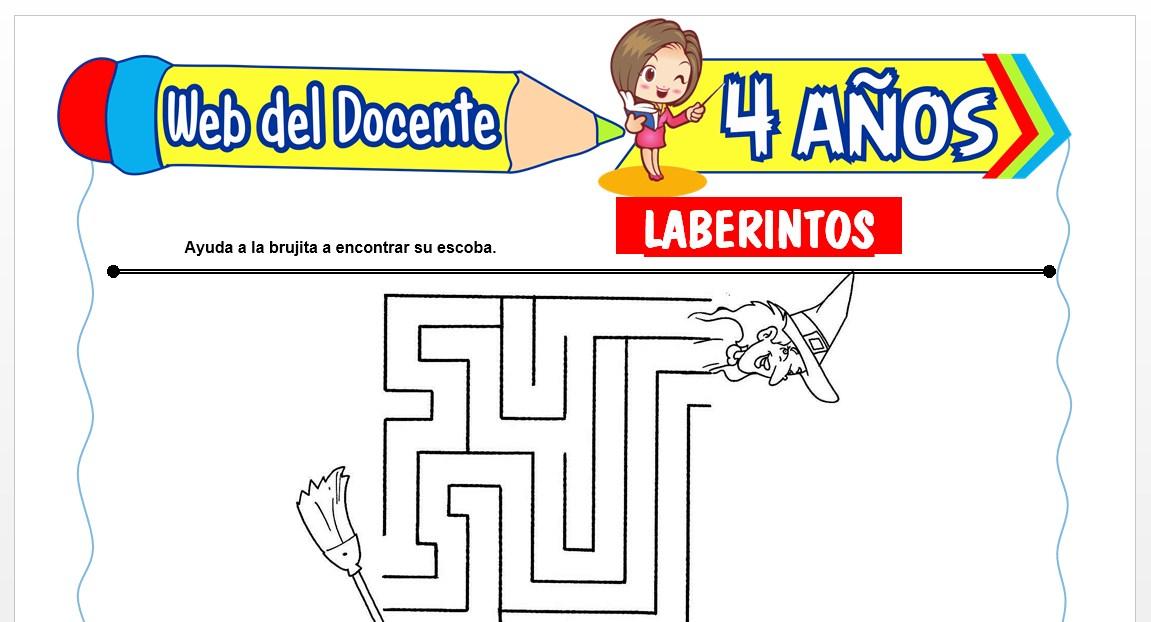 Ficha de Laberintos para Niños de 4 AÑOS