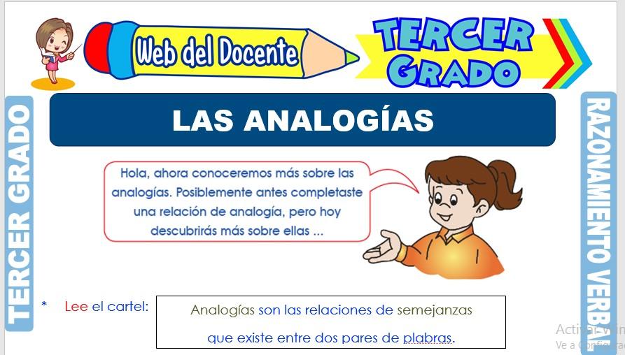 Ficha de Las Analogías para Tercer Grado de Primaria