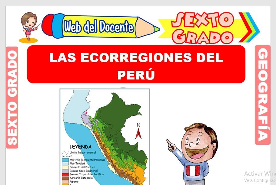 Ficha de Las Ecorregiones del Perú para Sexto Grado de Primaria