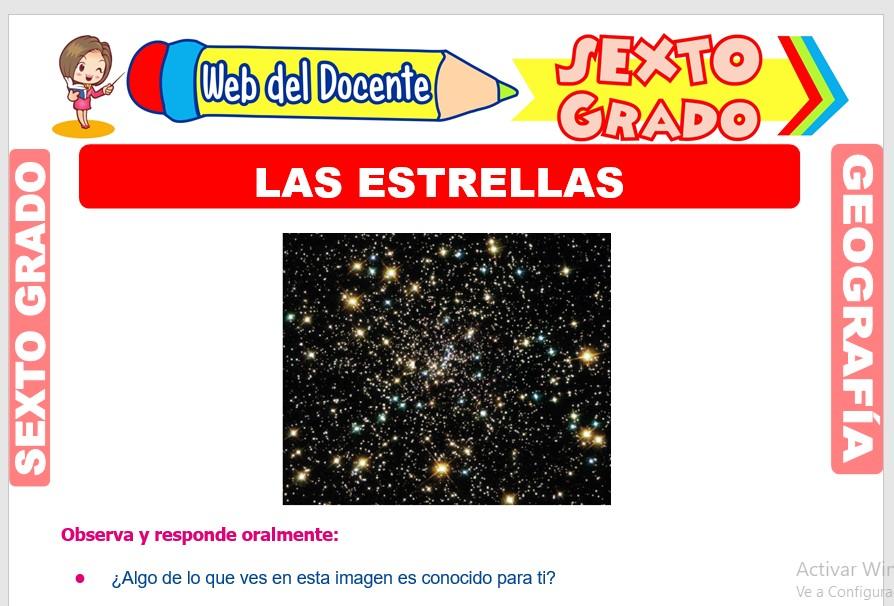Ficha de Las Estrellas para Sexto Grado de Primaria