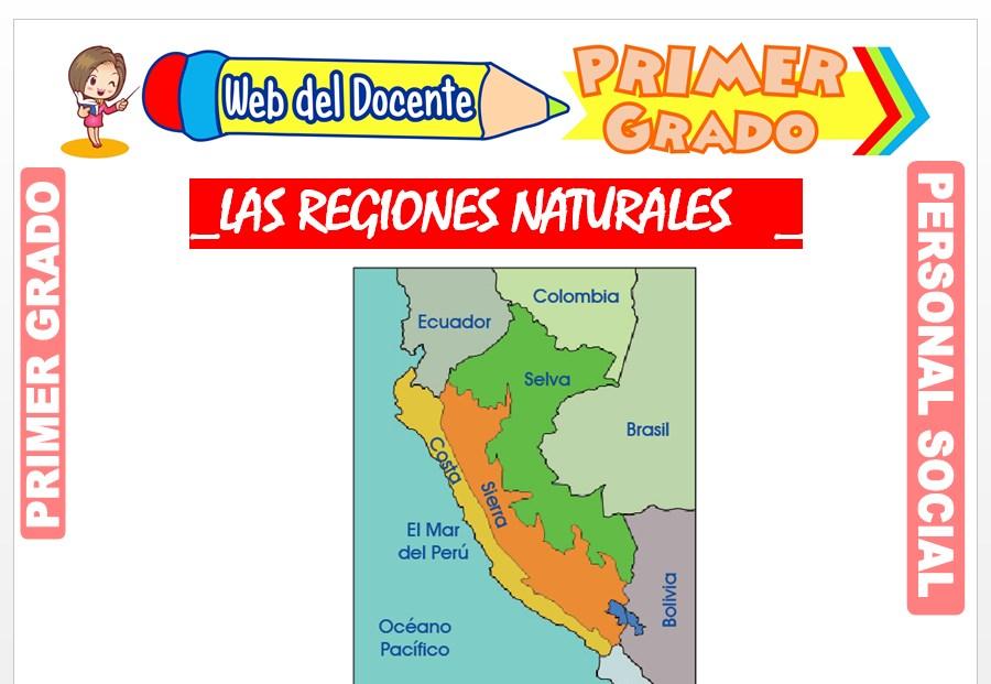Ficha de Las Regiones Naturales para Primer Grado de Primaria