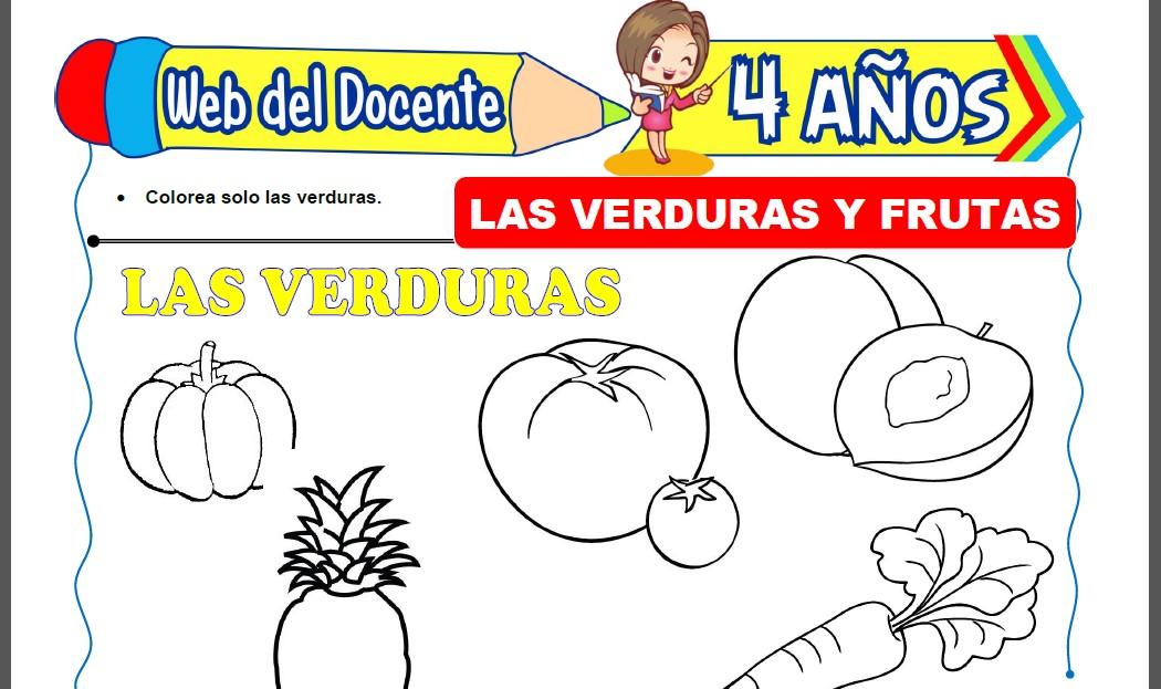 Las Verduras y Frutas para Niños de 4 Años