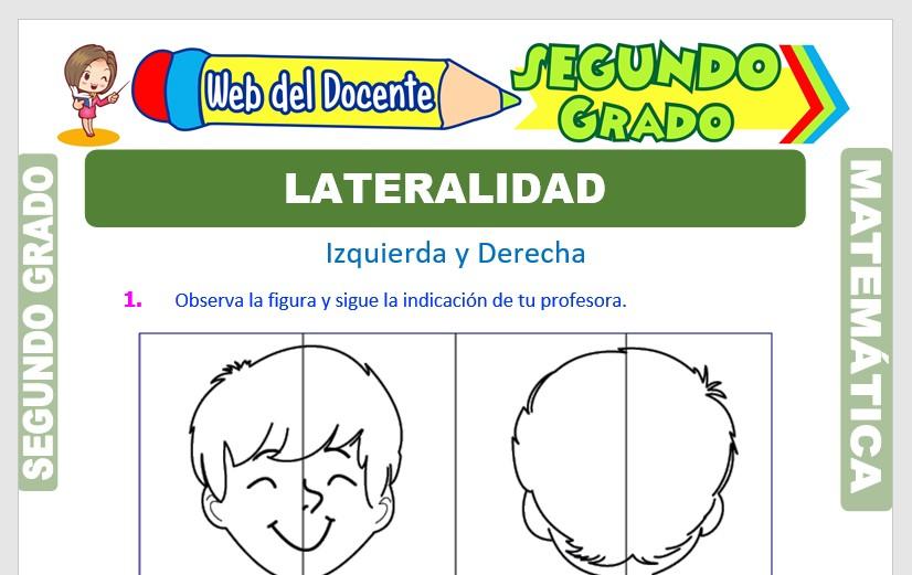 Ficha de La Lateralidad para Segundo Grado de Primaria