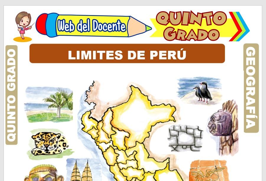 Ficha de Limites de Perú para Quinto Grado de Primaria