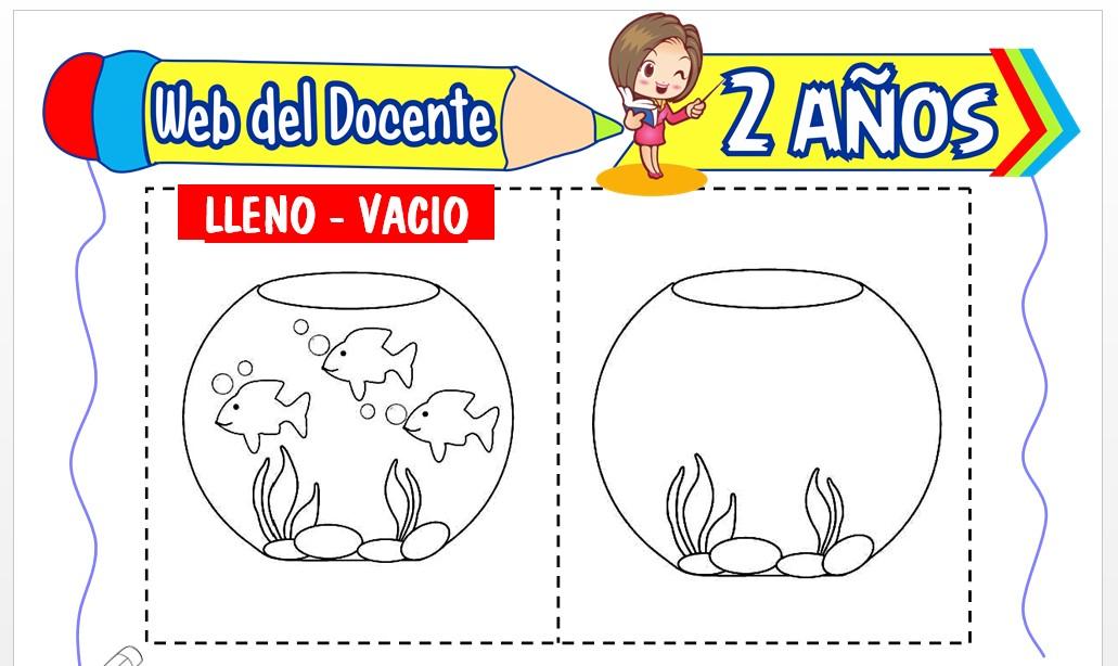 Ficha de Lleno y Vacío para Niños de 2 Años