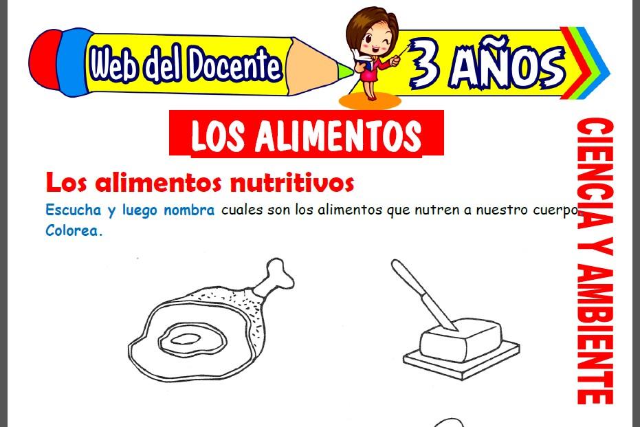 Los Alimentos para Niños de 3 Años