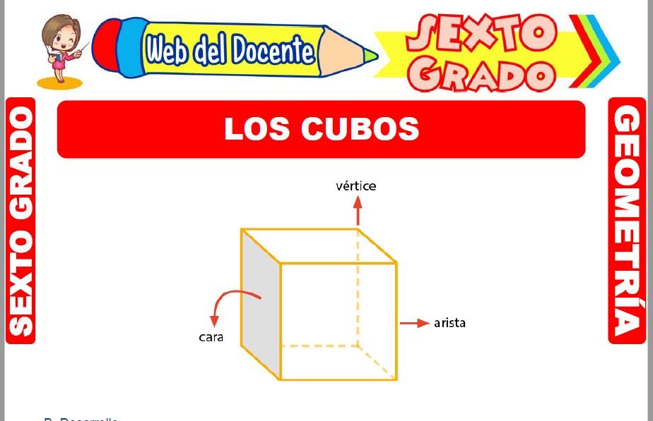 Muestra de la Ficha de Los Cubos para Sexto Grado de Primaria
