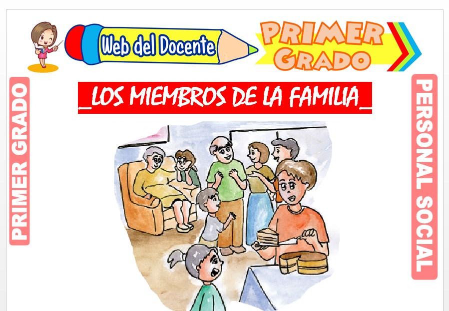 Ficha de Los Miembros de la Familia para Primer Grado de Primaria
