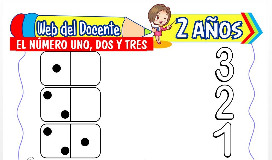 Ficha de Los Números 1, 2 y 3 para Niños de 2 Años