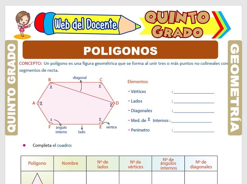 Ficha de Los Polígonos y su Clasificación para Quinto Grado de Primaria