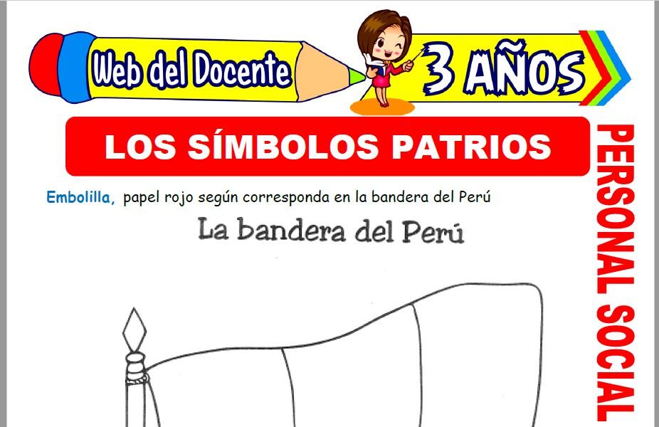 Muestra de la Ficha de Los Símbolos Patrios del Perú para Niños de 3 Años