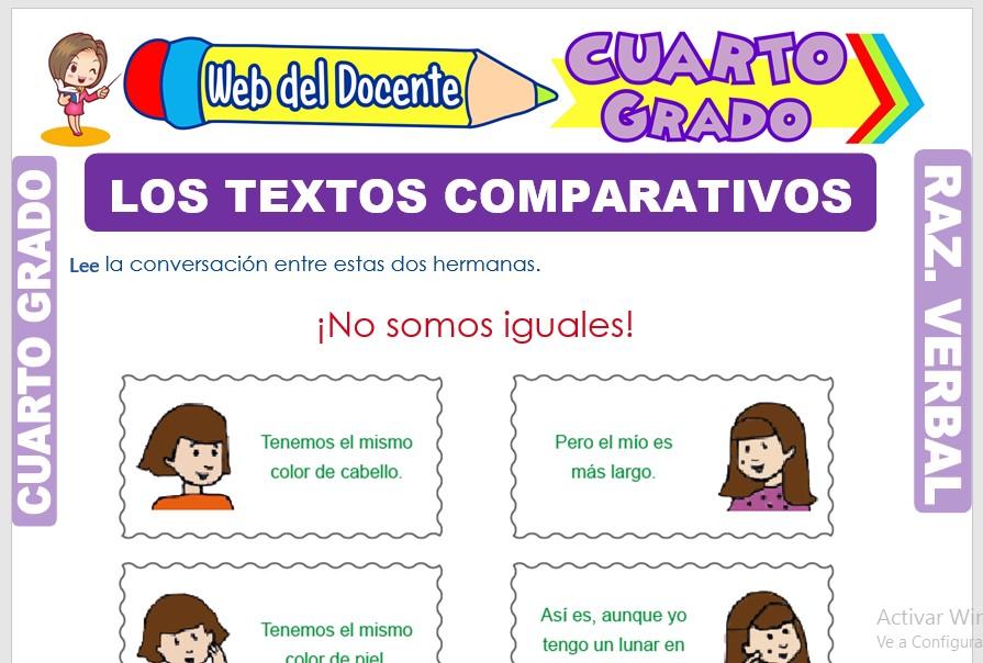 Los Textos Comparativos para Cuarto Grado de Primaria