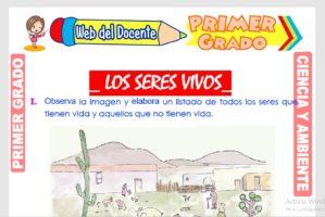 Ficha de Los Seres Vivos para Primer Grado de Primaria