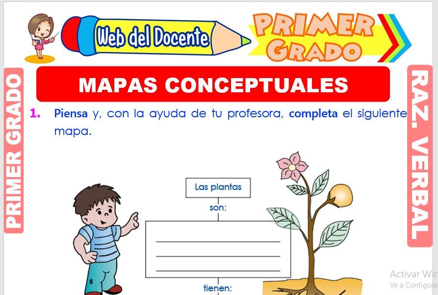 Ficha de Mapas Conceptuales para Primer Grado de Primaria