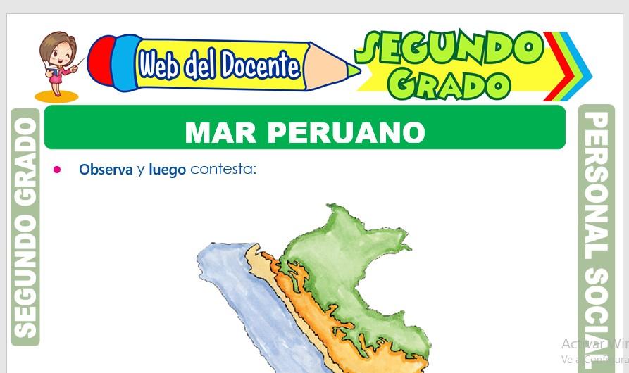 Ficha de Mar Peruano para Segundo Grado de Primaria