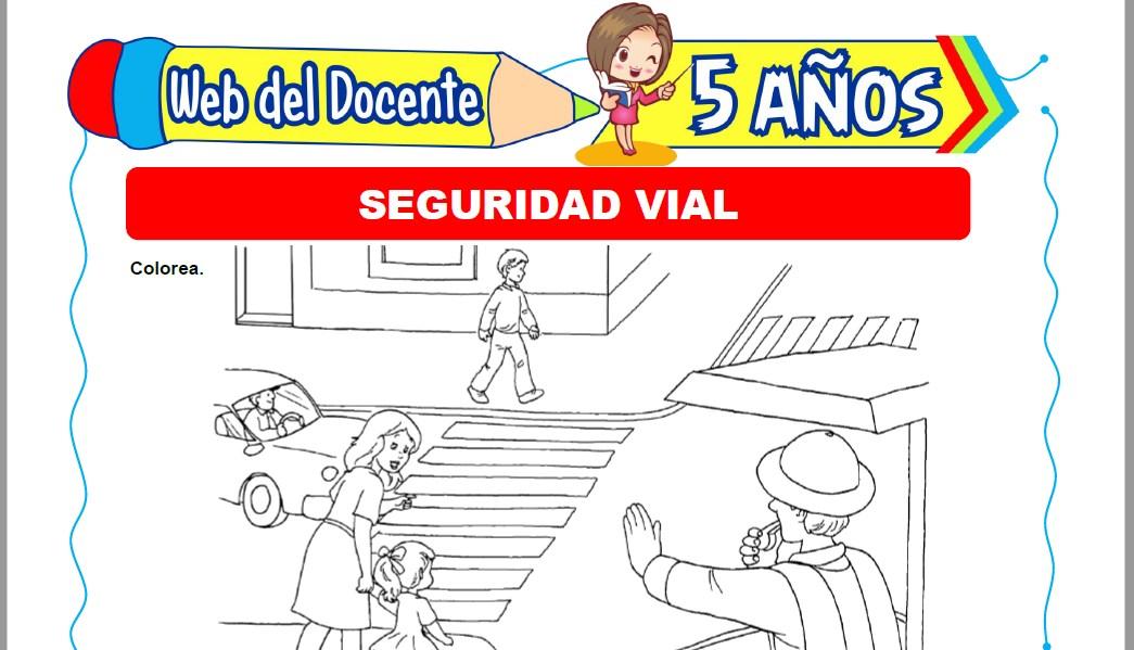 Muestra de la Ficha de Medidas de Seguridad Vial para Niños de 5 Años