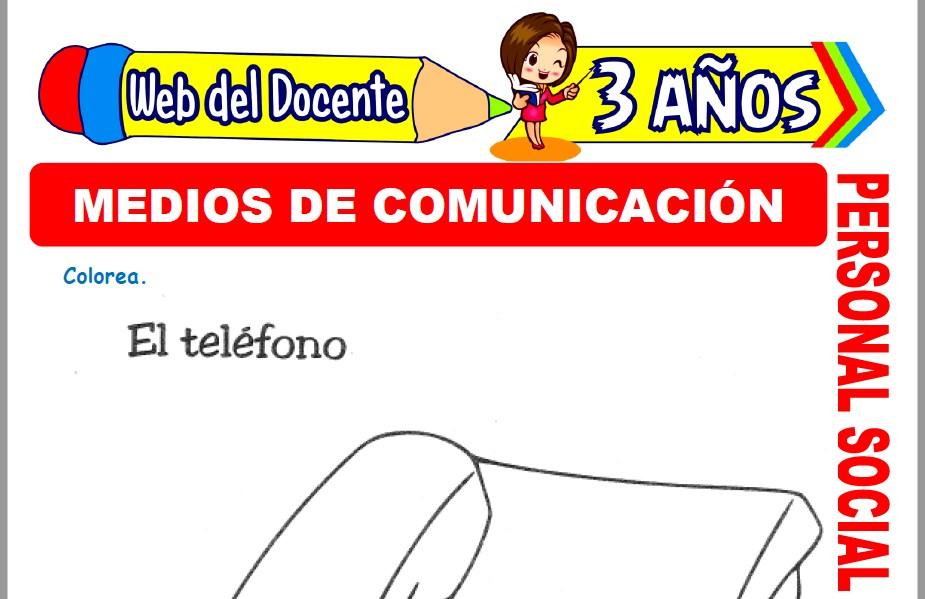 Muestra de la Ficha de Medios de Comunicación para Niños de 3 Años