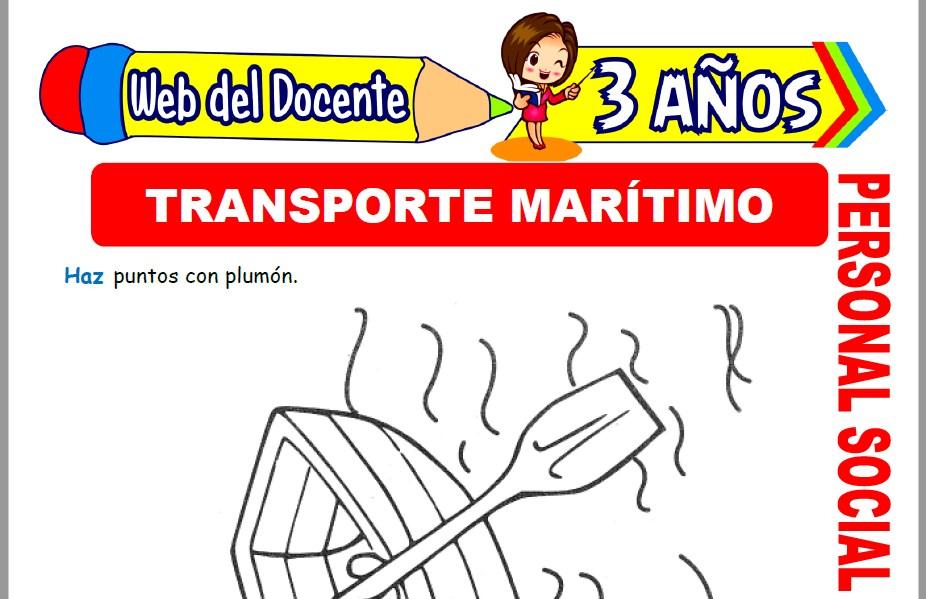 Muestra de la Ficha de Medios de Transporte Marítimo para Niños de 3 Años