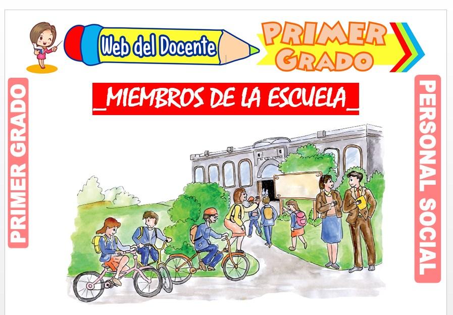 Ficha de Miembros de la Escuela para Primer Grado de Primaria