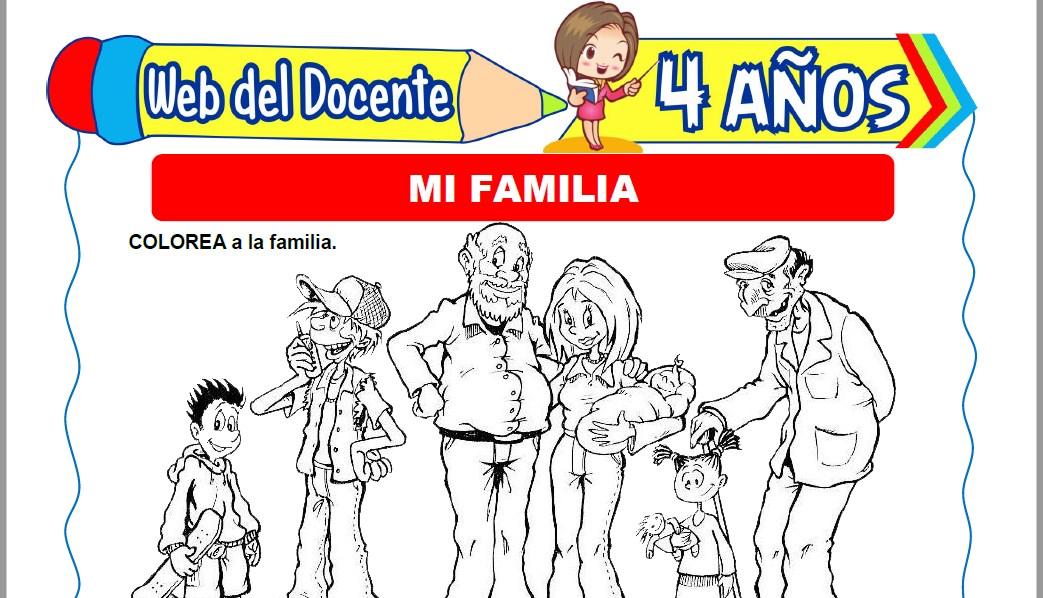 Muestra de la Ficha de Miembros de mi Familia para Niños de 4 Años