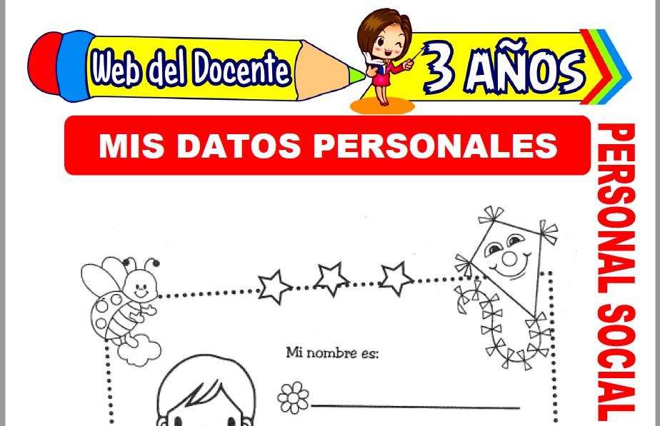 Muestra de la Ficha de Mis Datos Personales para Niños de 3 Años
