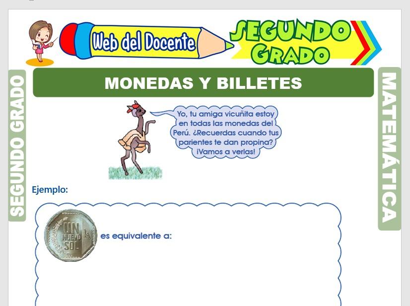 Monedas Y Billetes Para Segundo Grado De Primaria Web Del Docente