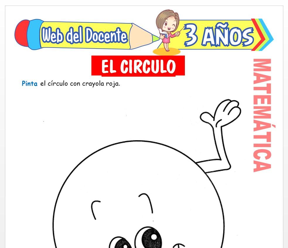 Ficha de Noción de Circulo para Niños de 3 AÑOS