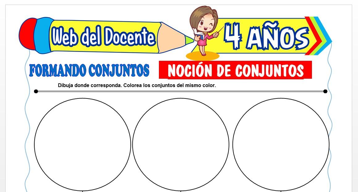 Ficha de Noción de Conjunto para Niños de 4 AÑOS