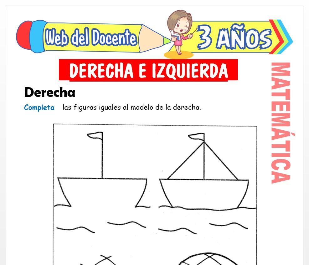 Ficha de Noción de Derecha e Izquierda para Niños de 3 AÑOS