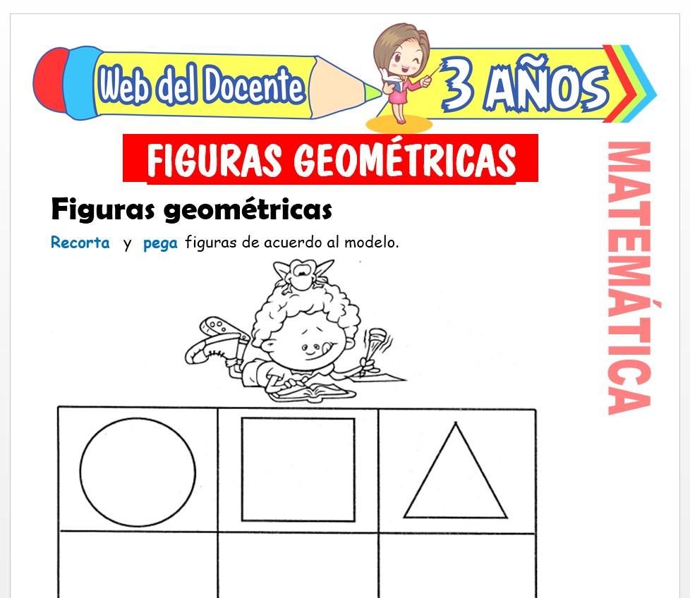 Ficha de Noción de Figuras Geométricas para Niños de 3 AÑOS