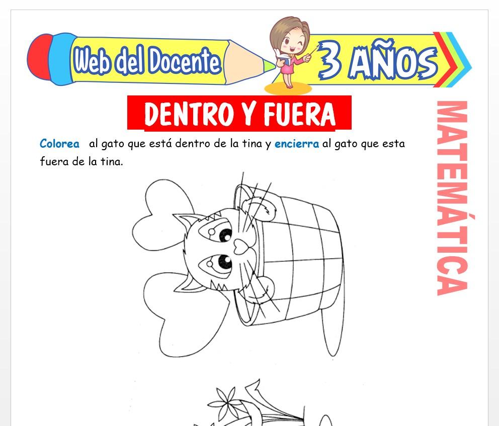 Ficha de Noción de Fuera y Dentro para Niños de 3 AÑOS