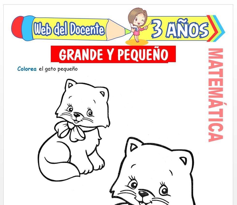 Ficha de Noción de Grande y Pequeño para Niños de 3 AÑOS