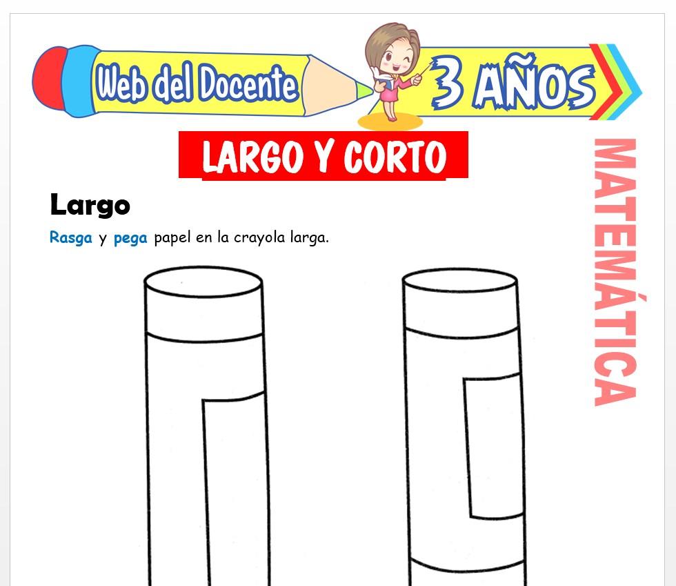 Ficha de Noción de Largo y Corto para Niños de 3 AÑOS