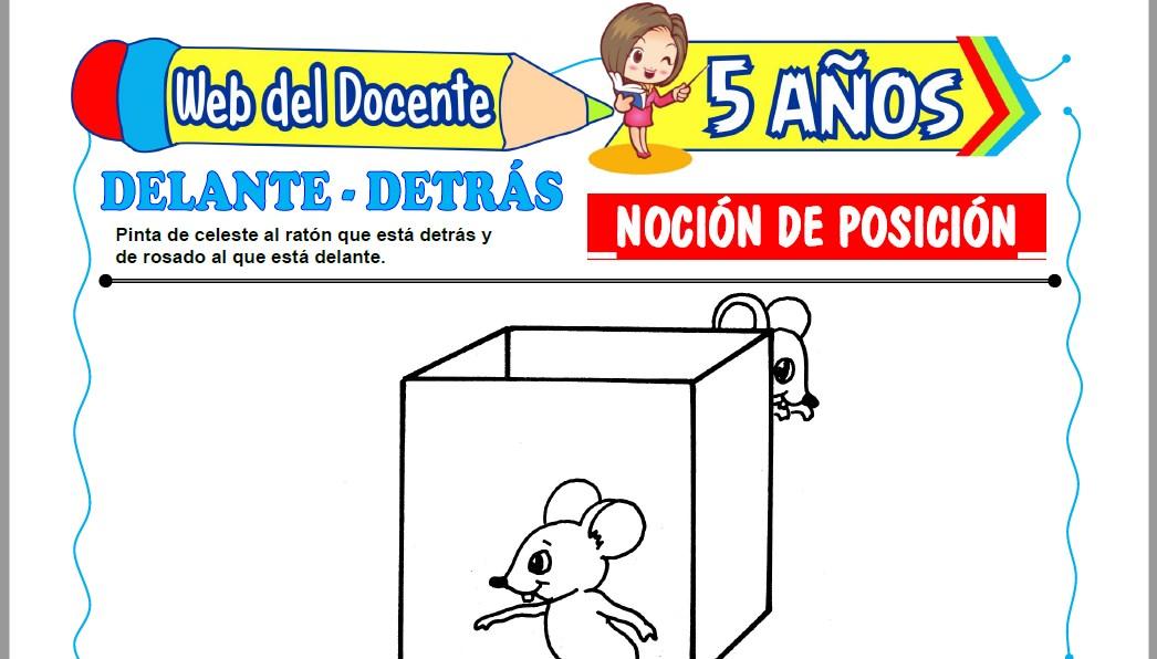 Muestra de la Ficha de Noción de Posición para Niños de 5 Años