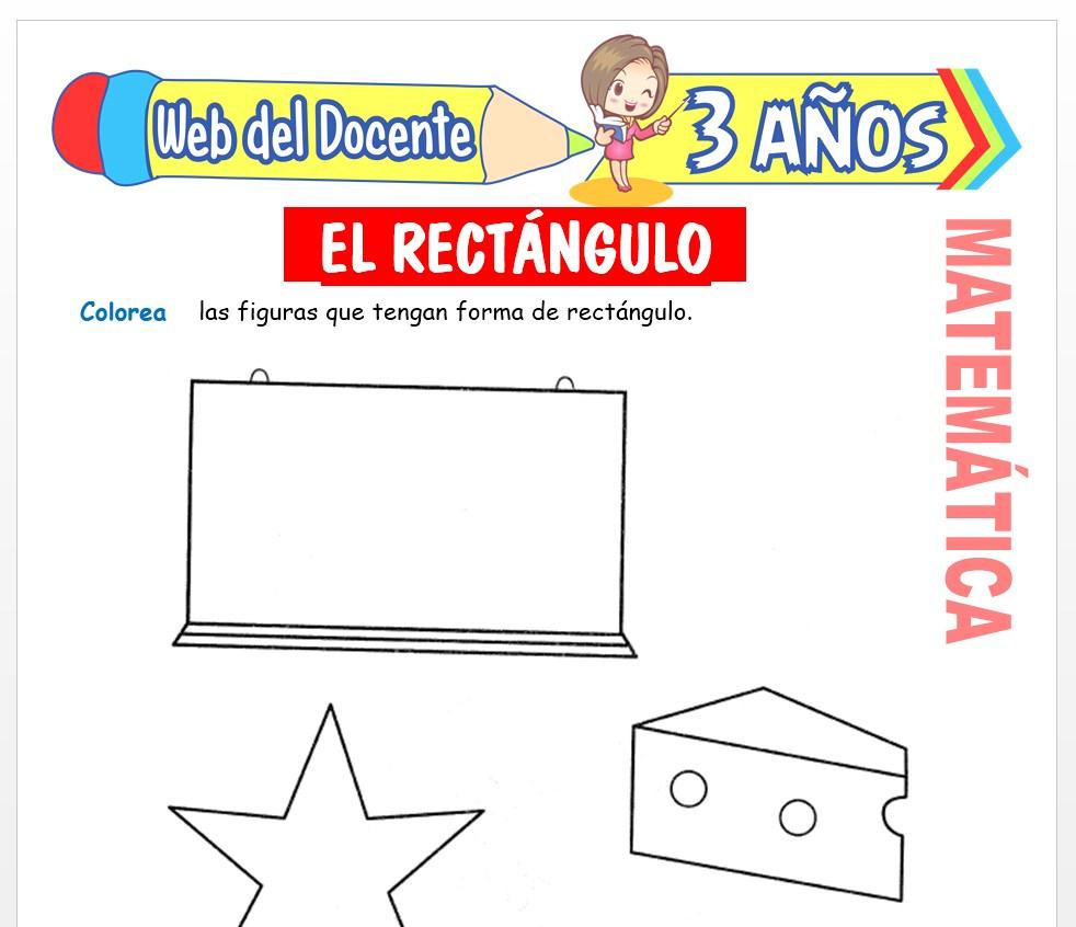 Ficha de Noción de Rectángulo para Niños de 3 AÑOS