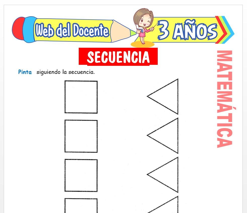 Ficha de Noción de Secuencia para Niños de 3 AÑOS