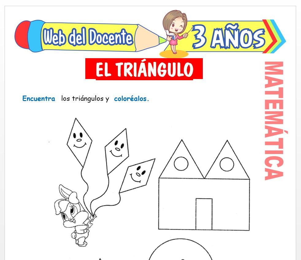 Ficha de Noción de Triángulo para Niños de 3 AÑOS