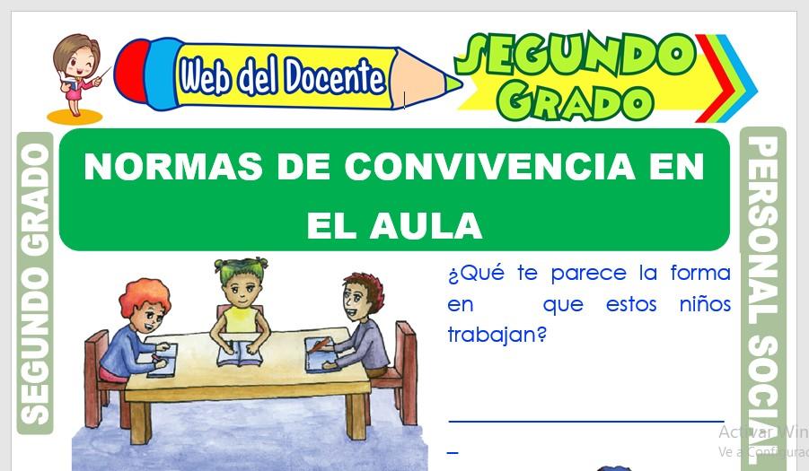 Ficha de Normas de Convivencia en el Aula para Segundo Grado de Primaria