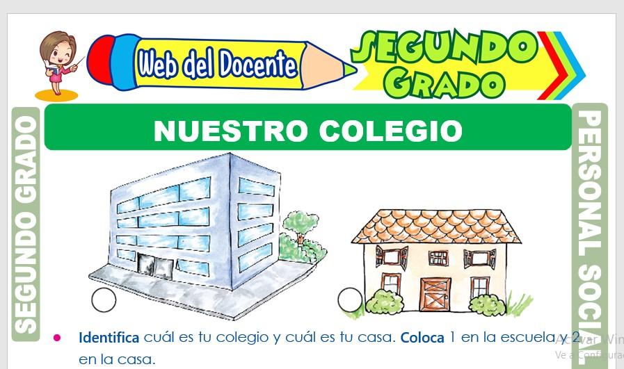 Ficha de Nuestro Colegio para Segundo Grado de Primaria