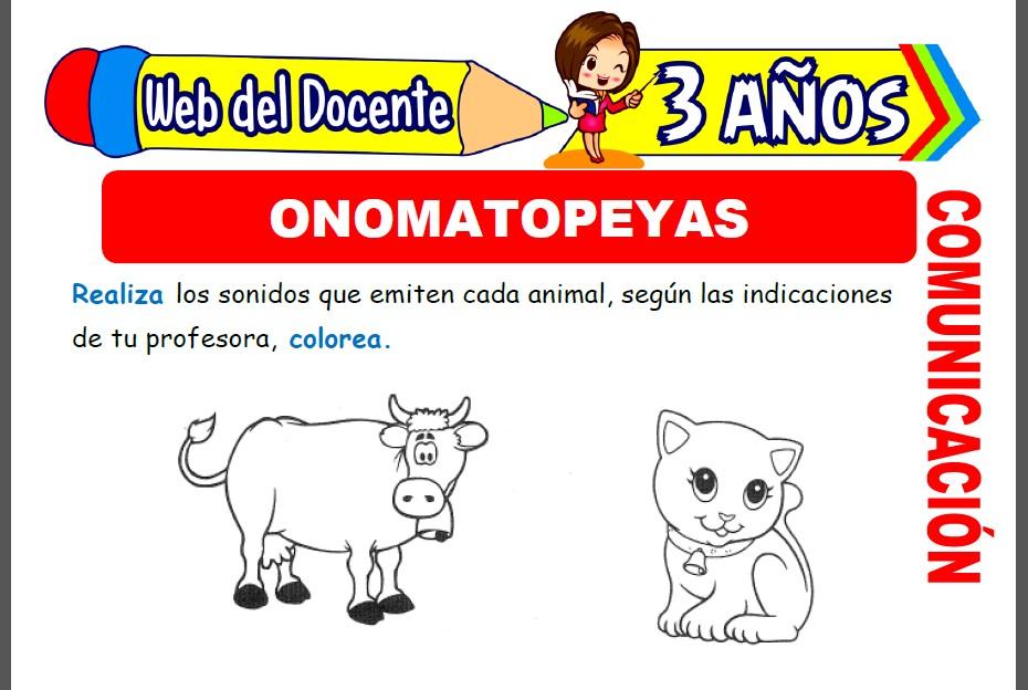 Onomatopeyas para Niños de 3 Años